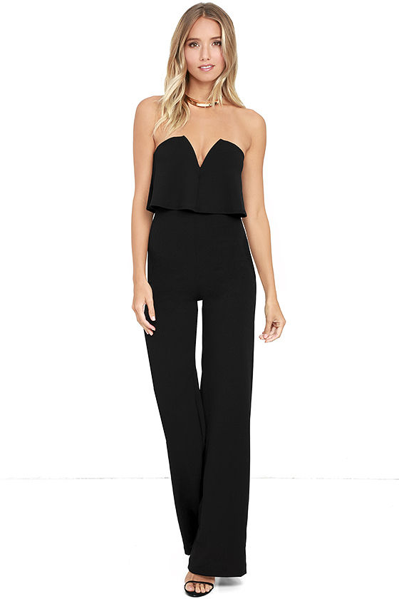 ab402ad77a4 Power of Love Black Strapless Jumpsuit